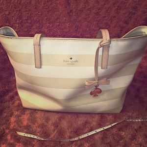 Kate Spade harmony tote in tan and cream